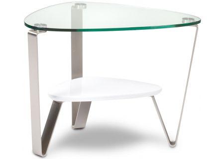 BDI Dino White Triangular End Table - DINO1347W