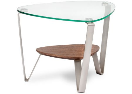 BDI Dino Natural Walnut Triangular End Table - DINO1347WL