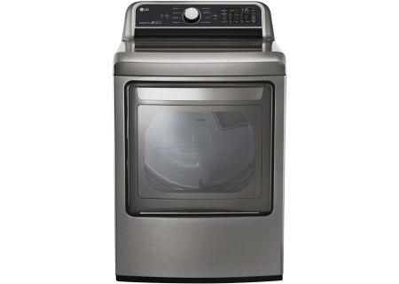 LG Graphite Steel Super Capacity Gas Dryer - DLG7201VE