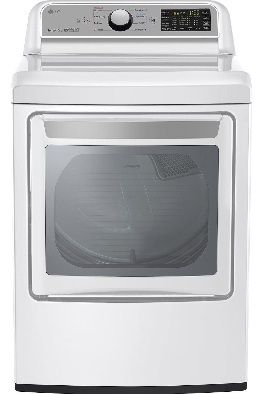 Lg White Super Capacity Gas Dryer Dlg7201we