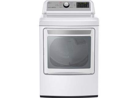 LG White Super Capacity Electric Dryer - DLE7200WE