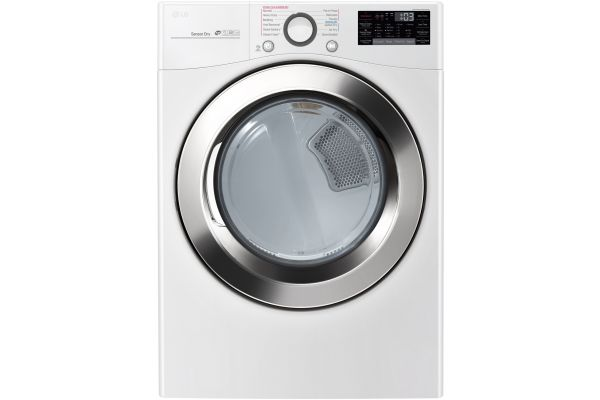 LG White Gas Steam Dryer - DLGX3701W