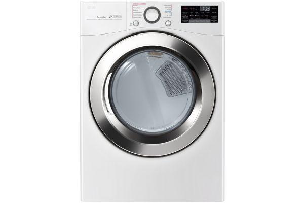 LG White Electric Steam Dryer - DLEX3700W