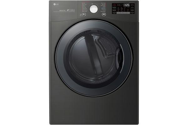 LG 7.4 Cu. Ft. Black Steel Electric Steam Dryer - DLEX3900B
