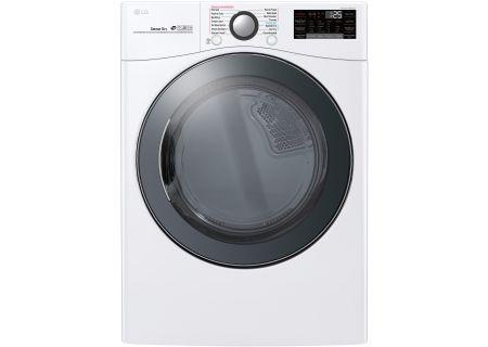 LG 7.4 Cu. Ft. White Electric Steam Dryer - DLEX3900W