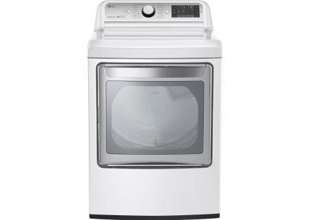 LG White TurboSteam Gas Dryer - DLGX7601WE