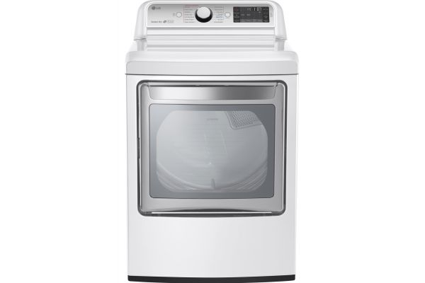 LG White TurboSteam Electric Dryer - DLEX7600WE