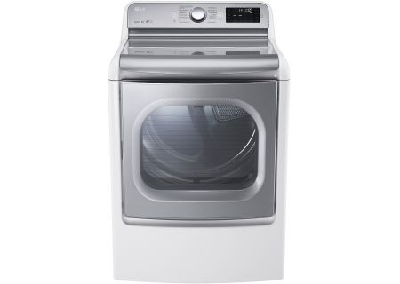 LG White Mega Capacity Electric TurboSteam Dryer - DLEX7700WE