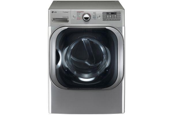 Large image of LG 9.0 Cu. Ft. Graphite Steel TrueSteam Dryer - DLEX8100V