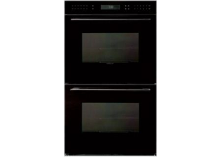 "Wolf 30"" E Series Contemporary Black Built-In Double Electric Wall Oven - DO30CE/B/TH"
