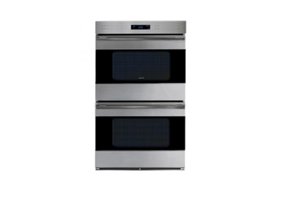 """Large image of Wolf 30"""" E Series Built-In Stainless Steel Double Electric Oven - DO30TE/S/TH"""