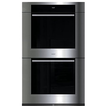 wolf series transitional built in stainless steel double oven dotm wall dimensions do30f s for sale