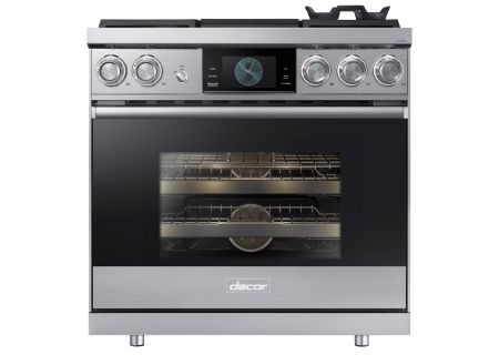 "Dacor Modernist Pro 36"" Stainless Steel Dual-Fuel Liquid Propane Steam Range  - DOP36M94DPS"