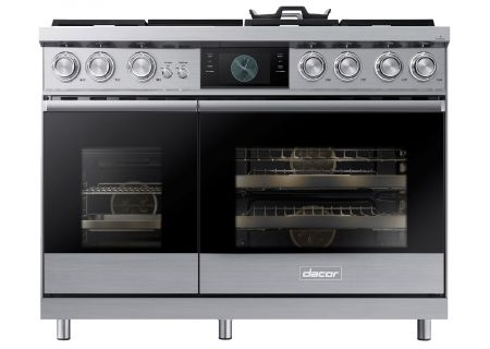 "Dacor Modernist Pro 48"" Stainless Steel Dual-Fuel Natural Gas Steam Range  - DOP48M96DLS"