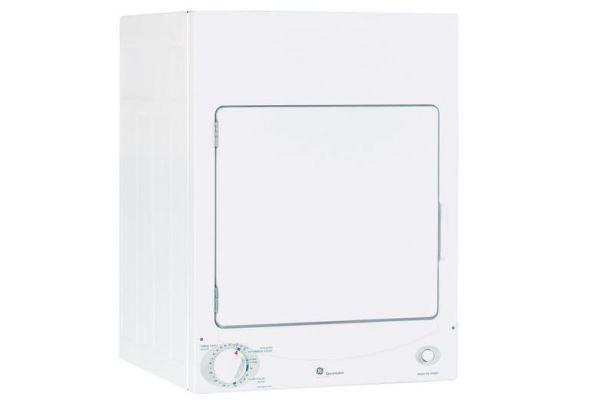 Large image of GE White Stationary Electric Dryer - DSKS433EBWW