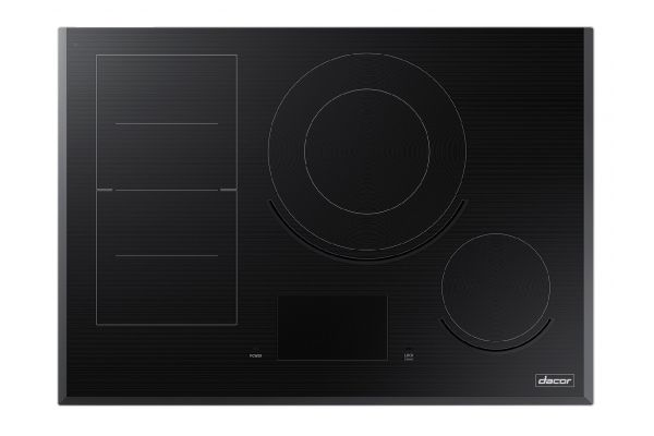 """Large image of Dacor Contemporary 30"""" Black Glass Induction Cooktop - DTI30M977BB/DA"""