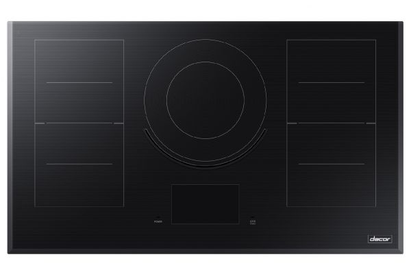 """Large image of Dacor Contemporary 36"""" Black Glass Induction Cooktop - DTI36M977BB/DA"""