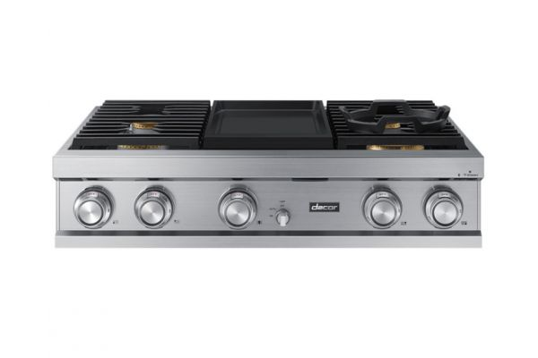 """Large image of Dacor Contemporary 36""""  Stainless Steel Liquid Propane Gas Rangetop - DTT36M974PS"""