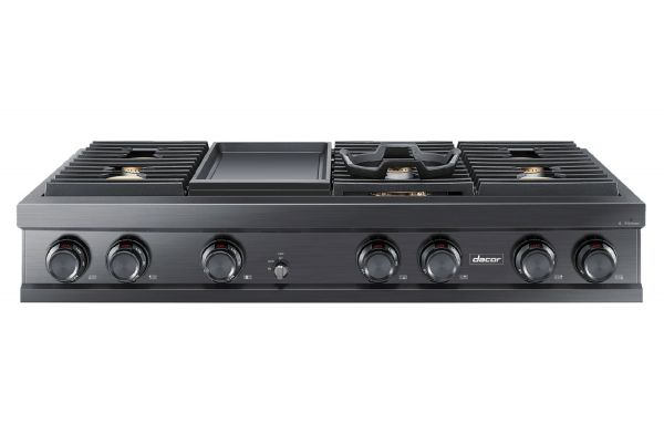 """Large image of Dacor Contemporary 48"""" Graphite Stainless Steel Natural Gas Rangetop - DTT48M976LM"""