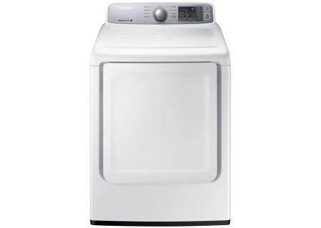 Samsung White Front-Load Gas Dryer - DV45H7000GW