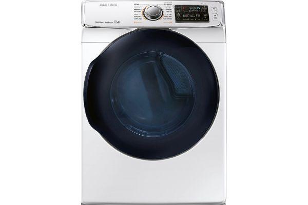Samsung White Gas Steam Dryer - DV45K6500GW