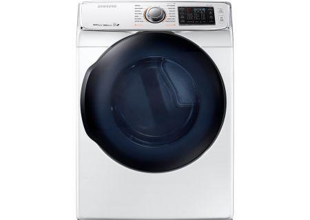 Samsung White Electric Steam Dryer - DV50K7500EW