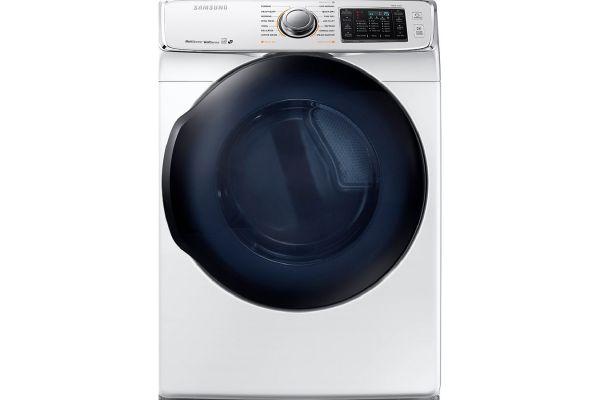 Samsung White Gas Steam Dryer - DV50K7500GW