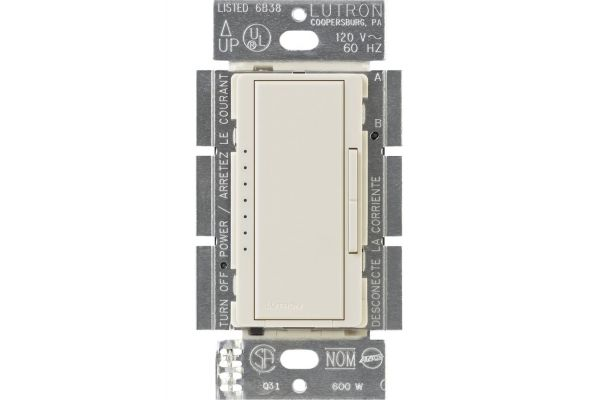 Lutron Diva 150-Watt Light Almond CFL/LED Dimmer - DVCL-153P-LA