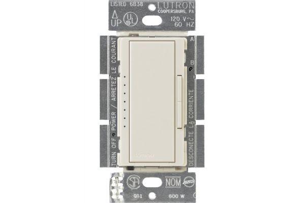 Large image of Lutron Diva 150-Watt Light Almond CFL/LED Dimmer - DVCL-153P-LA
