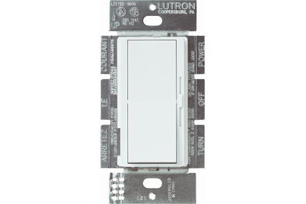 Lutron Diva White 300-Watt Single Pole Electronic Low-Voltage Preset - DVELV-300P-WH
