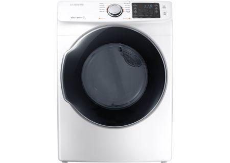 Samsung White Gas Steam Dryer - DVG45M5500W