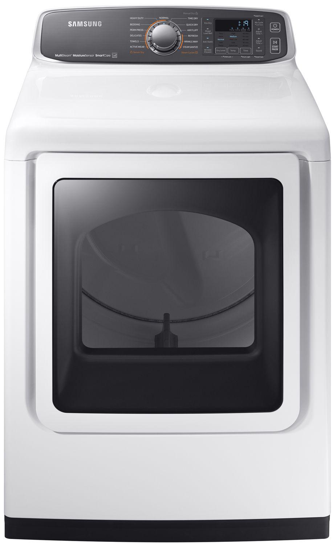 Samsung White Gas Steam Dryer Dvg52m7750w