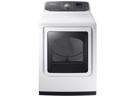 Samsung White Electric Steam Dryer - DVE52M7750W