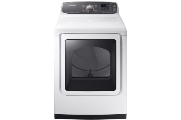 Samsung White Gas Steam Dryer - DVG52M7750W