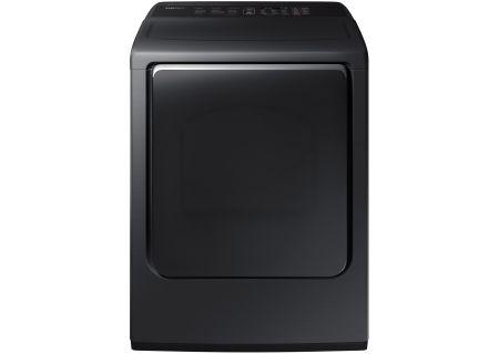 Samsung Fingerprint Resistant Black Stainless Steel Gas Dryer - DVG54M8750V