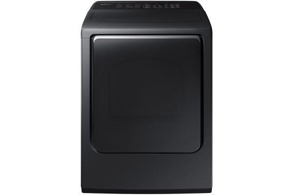 Samsung Fingerprint Resistant Black Stainless Steel Electric Dryer - DVE54M8750V