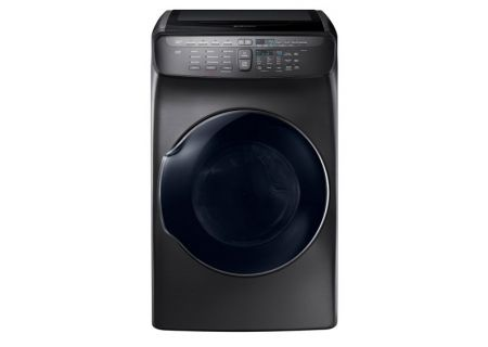 Samsung Fingerprint Resistant Black Stainless Steel FlexDry Gas Dryer  - DVG55M9600V