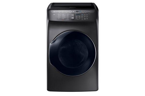 Samsung Fingerprint Resistant Black Stainless Steel FlexDry Gas Dryer  - DVG55M9600V