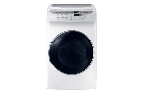 Samsung 7.5 Cu. Ft. White FlexDry Gas Dryer  - DVG55M9600W