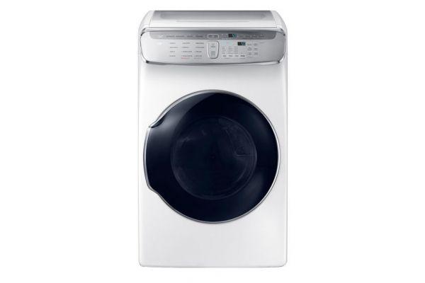 Samsung 7.5 Cu. Ft. White FlexDry Gas Dryer  - DVG60M9900W