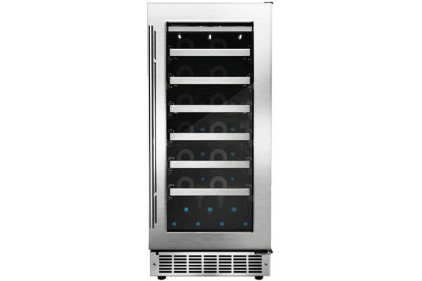 """Large image of Danby Silhouette Tuscany 15"""" Stainless Frame Right-Hinge Single Zone Built-In Wine Cellar - DWC031D1BSSPR"""
