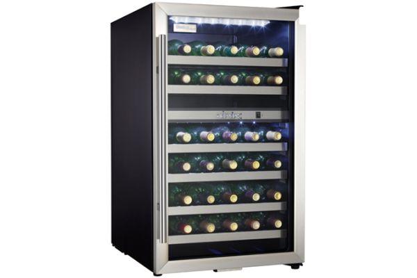 Large image of Danby Designer 38 Bottle Stainless Frame Wine Cooler - DWC114BLSDD