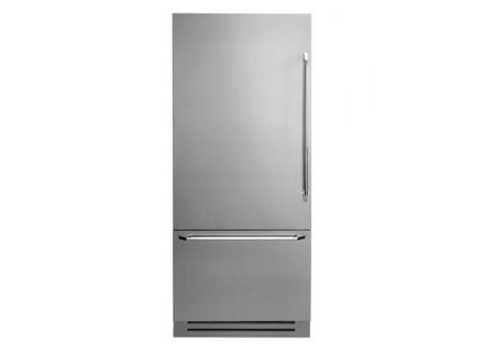 "Dacor Discovery 36"" Stainless Steel Fully Integrated Bottom Freezer Refrigerator  - DYF36BFBSL"