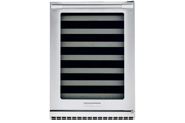 """Large image of Electrolux ICON 24"""" Stainless Frame Right-Hinge Under-Counter Wine Cooler - E24WC50QS"""
