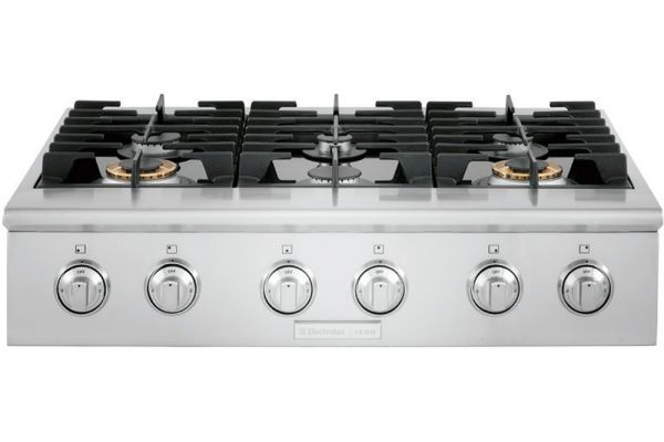 """Large image of Electrolux ICON 36"""" Stainless Steel Gas Rangetop - E36GC76PRS"""