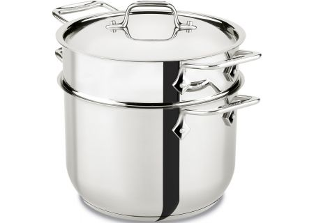 All-Clad 6 Quart Stainless Steel Pasta Pot - E414S664