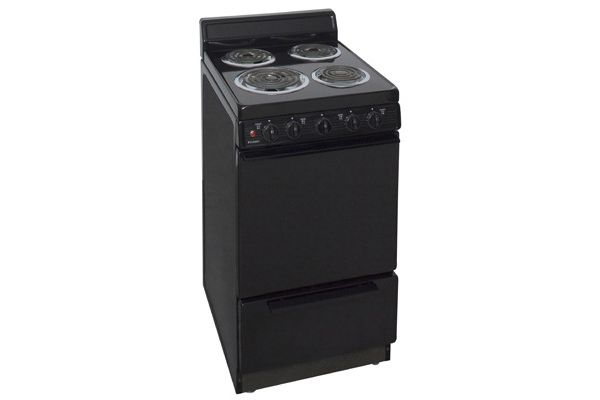 "Large image of Premier Black 20"" Free Standing Electric Range - EAK100BP"