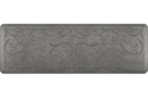 Large image of WellnessMats Estates Collection 6x2 Ft. Bella Silver Leaf Mat  - EB62WMRSL