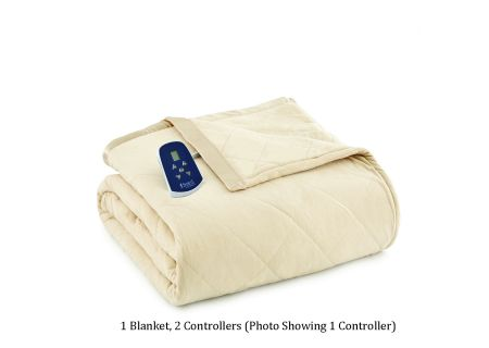 Shavel Micro Flannel King Chino Electric Heated Comforter Blanket - EBKGCHN