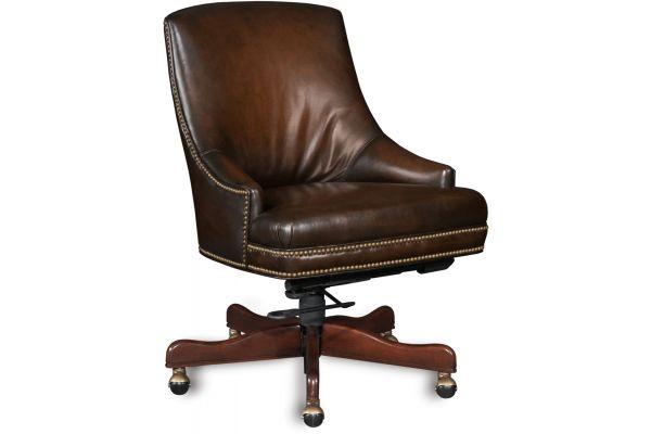 Large image of Hooker Furniture Home Office Heidi Executive Swivel Tilt Arm Chair - EC403-085